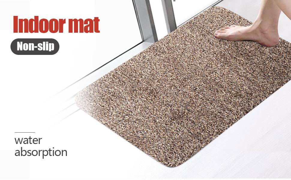 Indoor Doormat Absorbent Mats 28x18 Latex Backing Non Slip