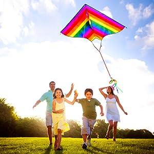 flying kite family