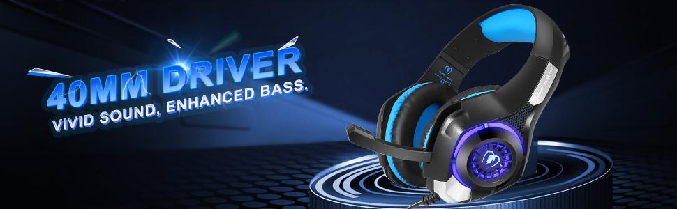 Amazon.com: Gaming Headset Auriculares, GM-1 Bass Enhanced ...