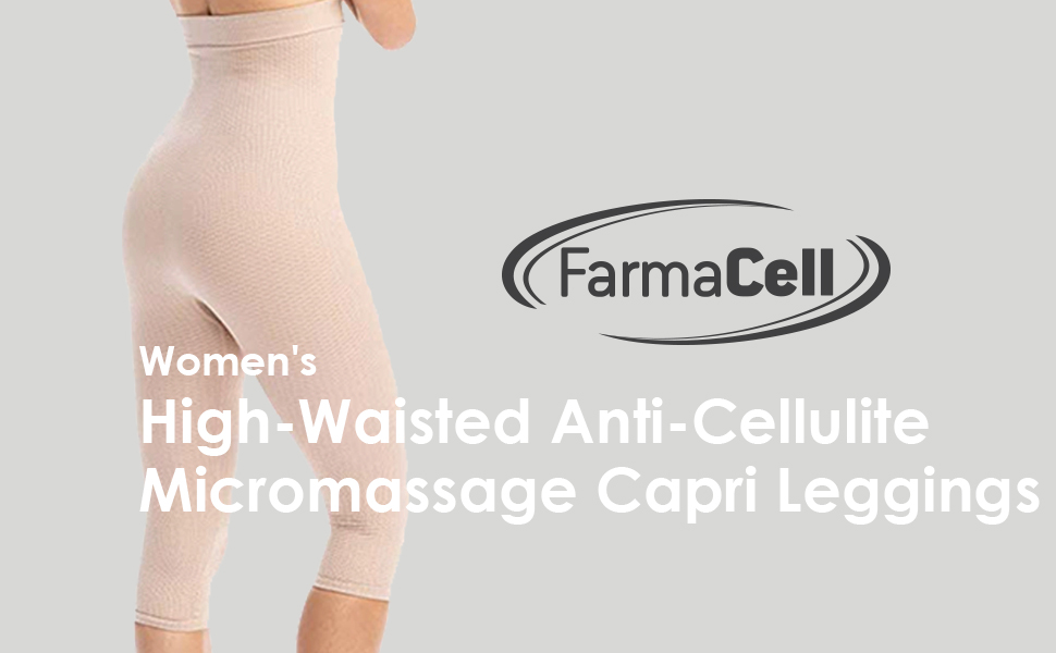 Relaxan, anti cellulite, high waisted, capri leggings, micro-massaging, anti-cellulite, Breathable