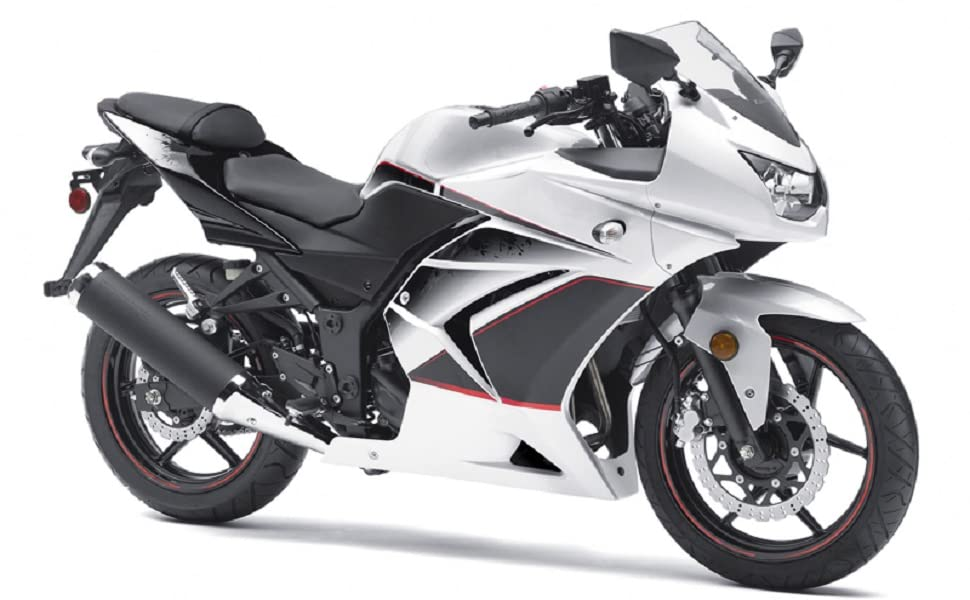 Amazon.com: Moto Onfire White Matte Black Fairings Kit for ...