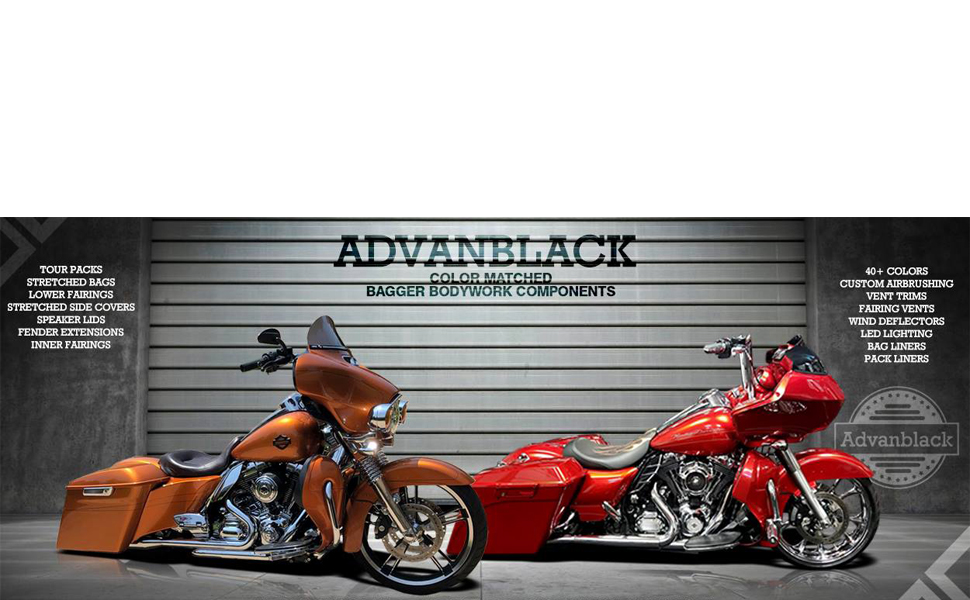 2017 Road Glide Ultra >> Amazon.com: US STOCK! Advanblack Vivid/Glossy Black 4 1/2 inch Extended Bags Bottoms Stretched ...
