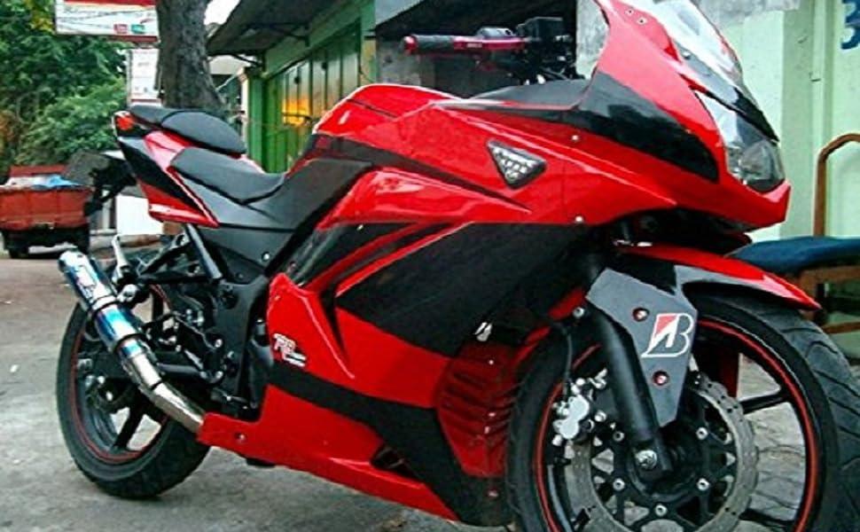 Moto Onfire Red Black Plastic Fairing Kits Tank Cover Fit For Kawasaki Ex250r Ninja 250 Ex 250r Zx250 2008 2009 2010 2011 2012
