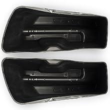 Vivid Black Stretched Saddlebags Stretched Extended Hard Saddlebags Street Glide Harley Davidson