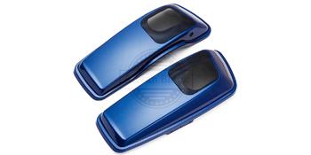 superior blue speaker lids for harley davidson