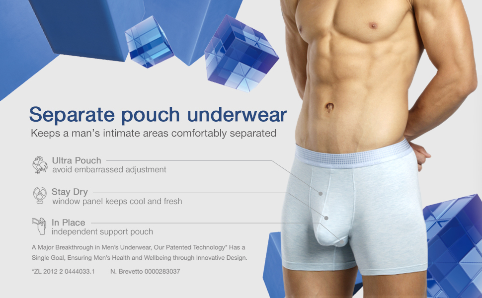 Separatec Men s 3 Pack Micro Modal Separate Pouches Comfort Fit Boxer Briefs ad43838f69f9