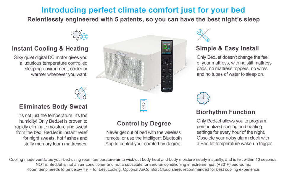 Amazon Com Bedjet 3 Climate Control For Beds Cooling Fan