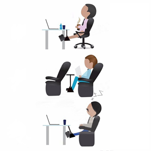 easy to install the office foot hammock under the desk or table reduces pressure on your back and feet pain