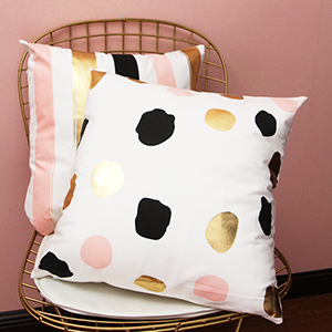 Throw Pillow Cover Super Soft Gold