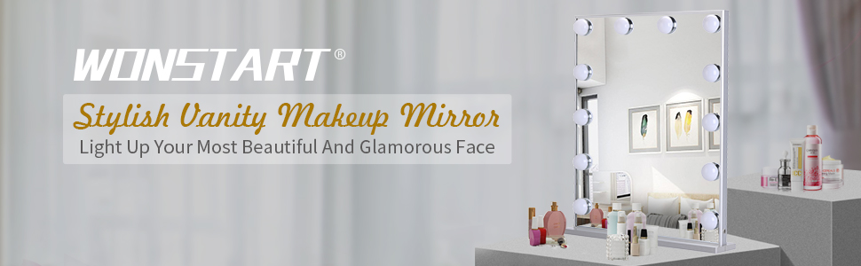 Hollywood Vanity Mirror with Lights Kit