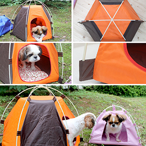 Suitable for pets like dogs cats puppies for traveling beach park backyard and other places to get sun protection and ultraviolet-proof. & Amazon.com : MyLifeUNIT Outdoor Pet Tent Portable Dog House Pet ...