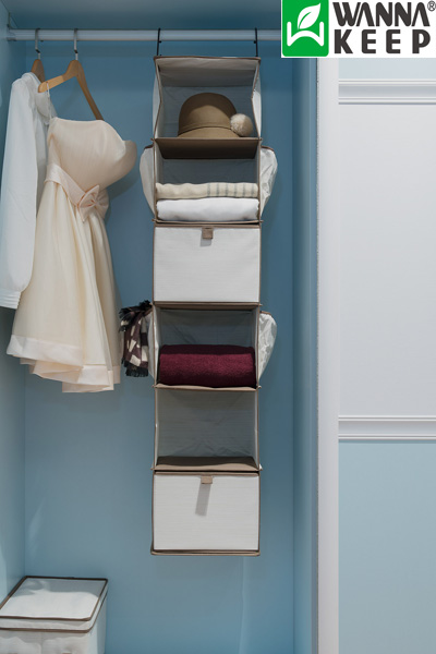 This 6 Shelf Closet Organizer Features MDF Board Shelves With Supports And  Two Strong Hooks To Hang On Rod Or Wire Closets. You Can Easily Store  Sweaters, ...
