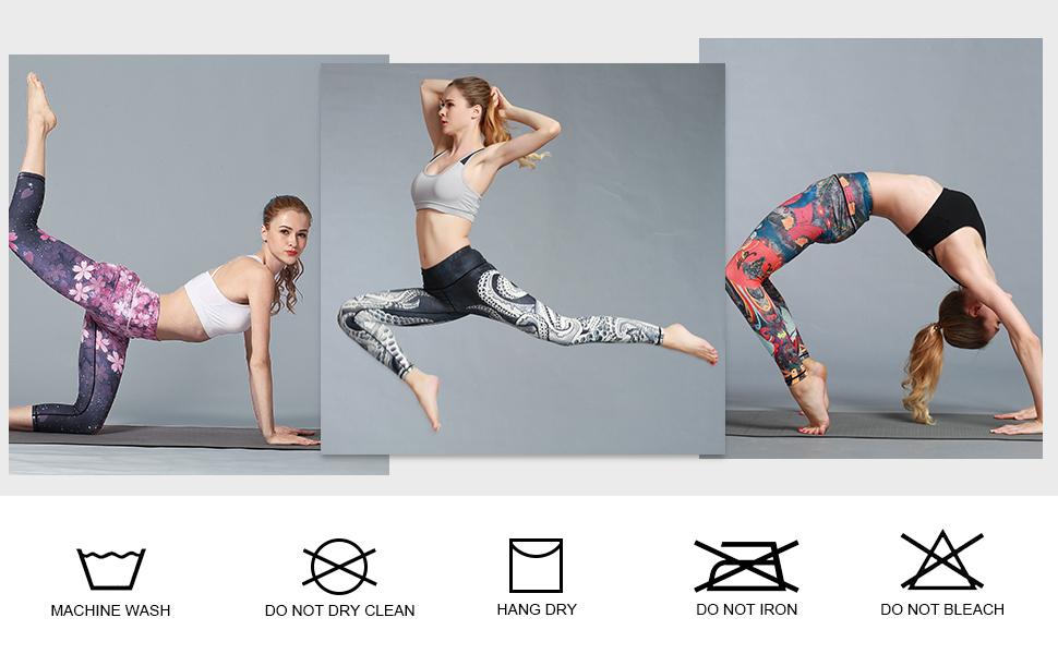 Amazon.com: Pantalones de yoga de Finemore para mujer ...