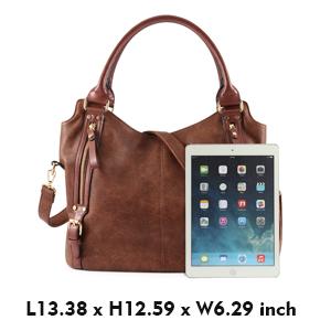 554916488 Amazon.com: Plambag Women Faux Leather Hobo Handbag Large Tote Purse ...