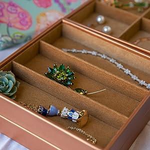 Amazoncom HUJI Stackable Jewelry Trays Organizer Storage Rings