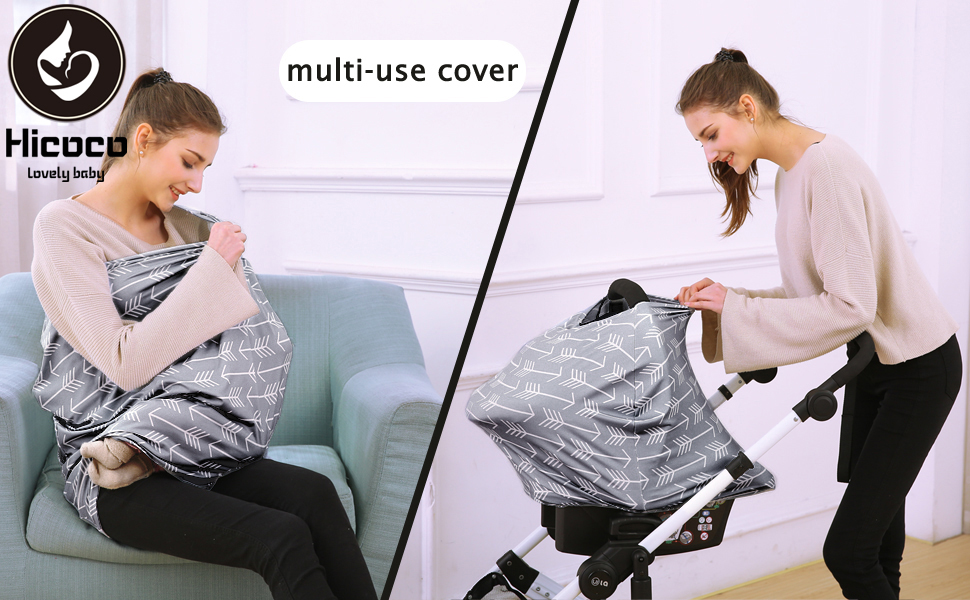 multi-use nursing covers & carseat canopy