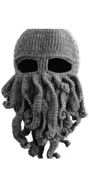 Tentacle Octopus Cthulhu Knit Beanie Hat Fisher Cap Wind