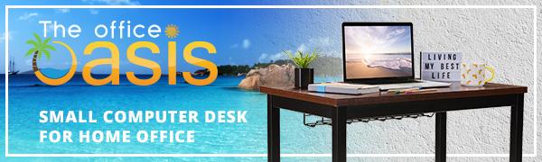 heavy duty small desk teak