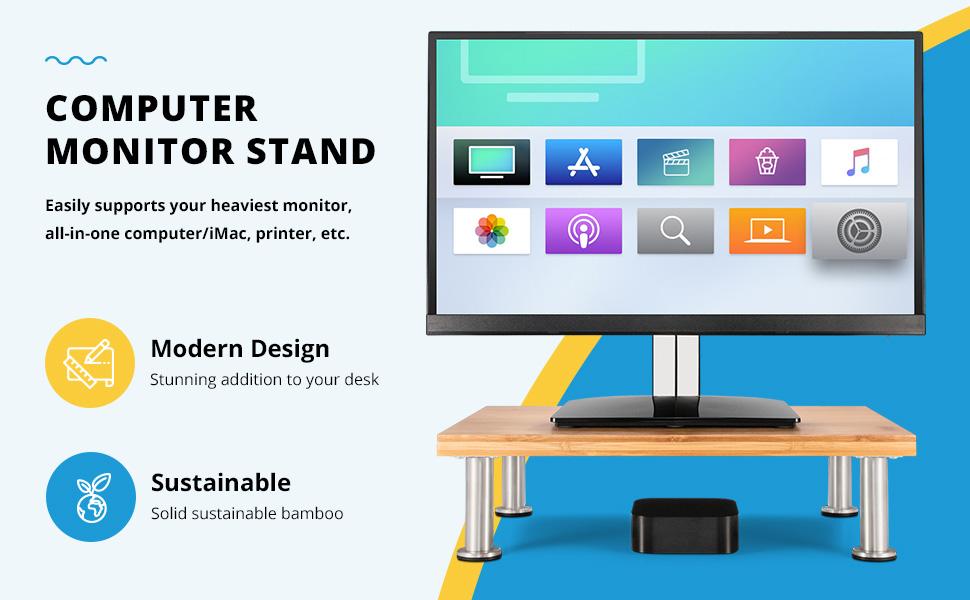computer monitor stand natural