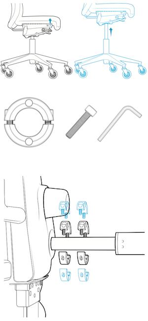 Amazon Com 1 Office Chair Cylinder Replacement