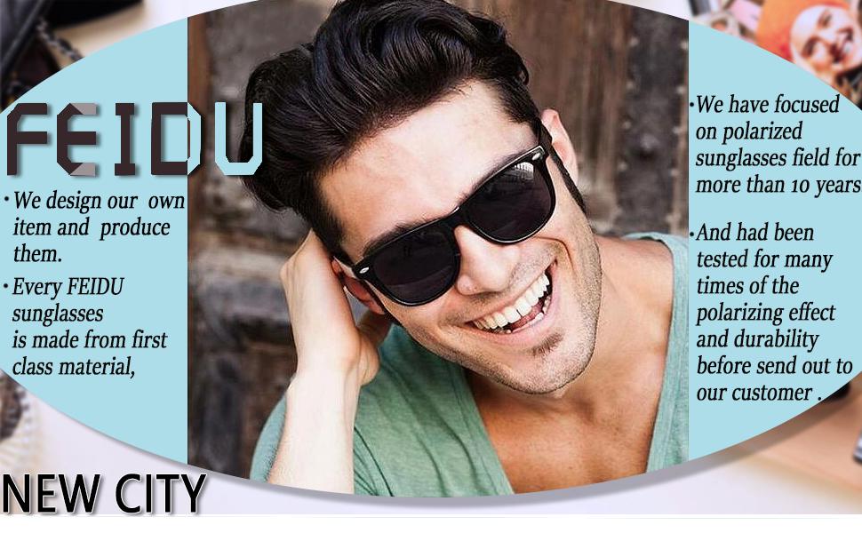 c9ace7fac2 Polarized Sunglasses for Men Wayfarer - FEIDU Polarized Wayfarer Sunglasses  for Men Sunglasses Man FD2149 60 ) ...