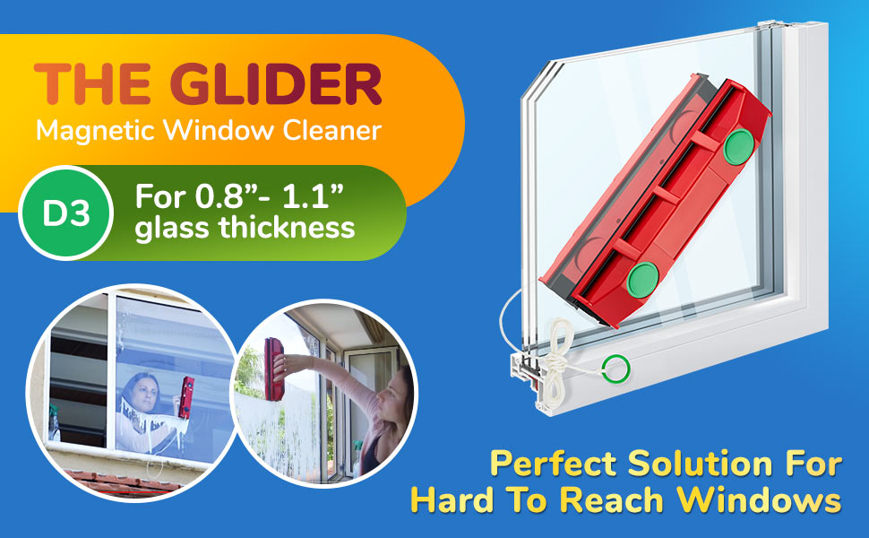 magnetic window squeegee