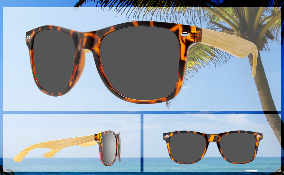 8a03b10cb4d3 Abaco Taylor Sunglasses Gloss Tortoise/Bamboo Frame Polarized Grey ...