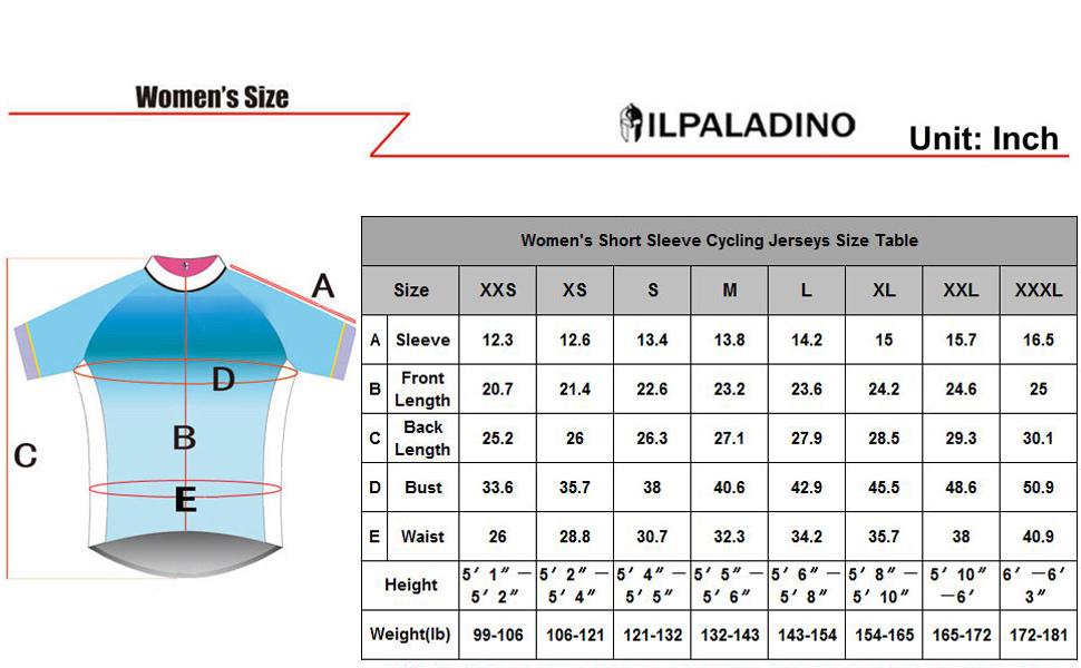b6ad9f8ed Amazon.com  ILPALADINO Women s Cycling Jersey Short Sleeve Biking ...
