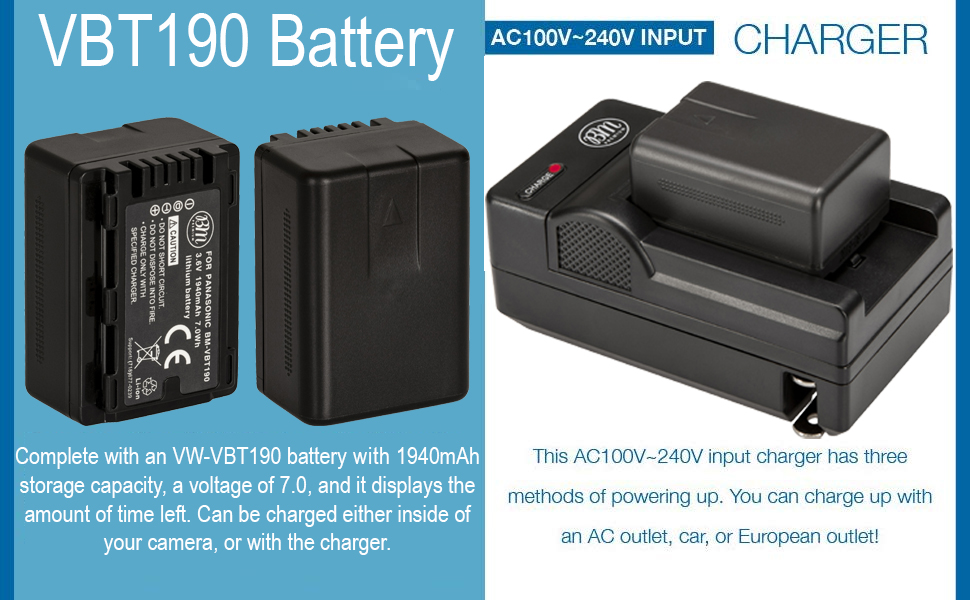 VW-VBT190 Batteries