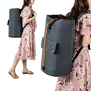 Amazon.com  ZERO JET LAG Large Laundry Bag Backpack Laundry Hamper ... 0359859188d07