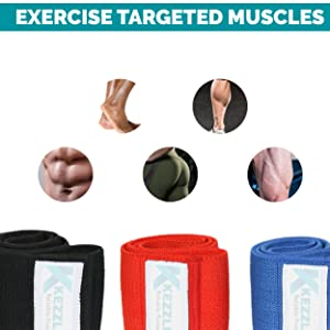Amazon.com : Kezzled Resistance Exercise Loop Bands Home Gym Fitness  Equipment, Crossfit, Body Stretching, Strength Training, Physical Therapy,  Rehab, Workout Anti Slip Pilates Flexbands for Legs Butts & Booty : Sports &
