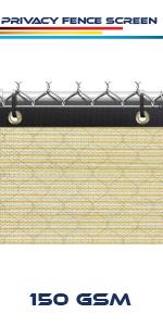 beige fence screen