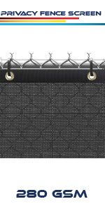 black fence screen