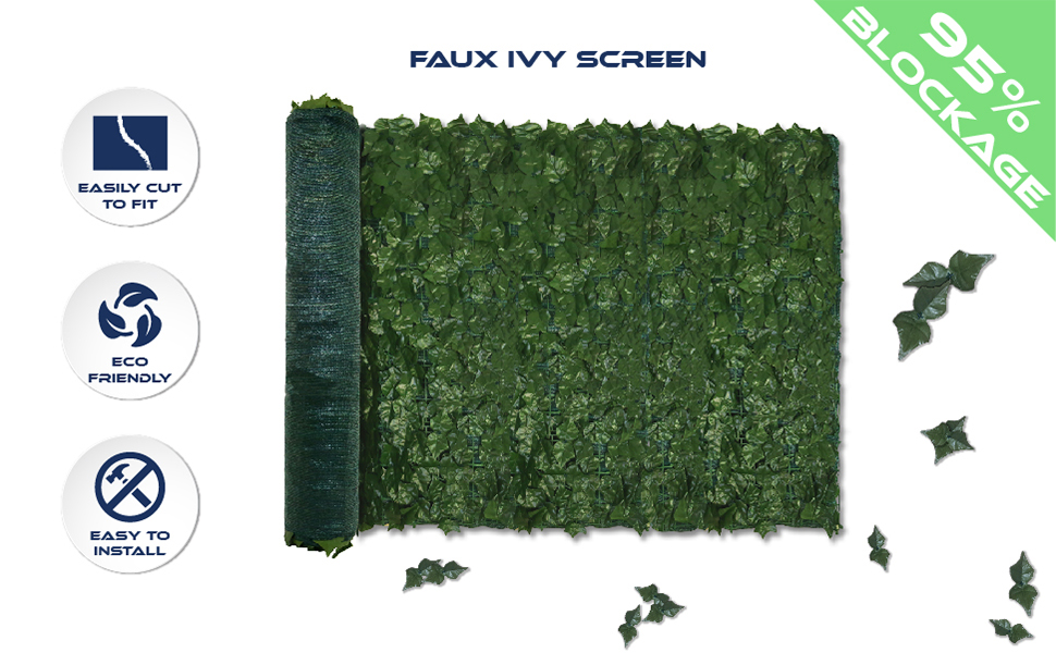faux leave fence screen