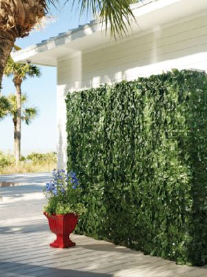 wall artificial greenery fence decor