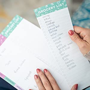 Tear off the grocery list