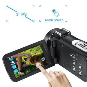 camcorder 3-inch IPS touch screen
