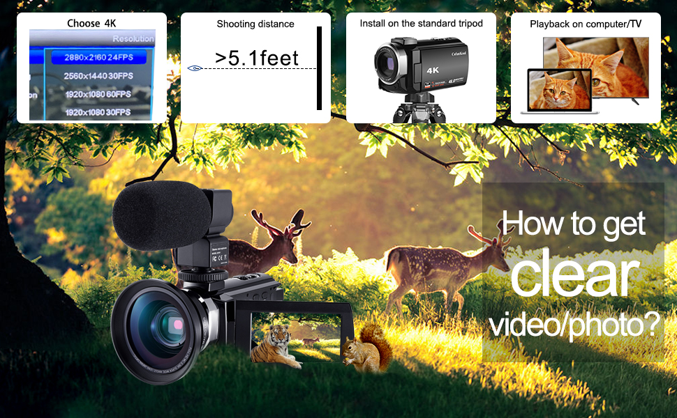 4K camcorder video camera youtube camera vlogging camera