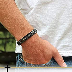 Crosstraxx Philippians 4:13 - Titanium Prayer Bracelet - Magnetic Therapy