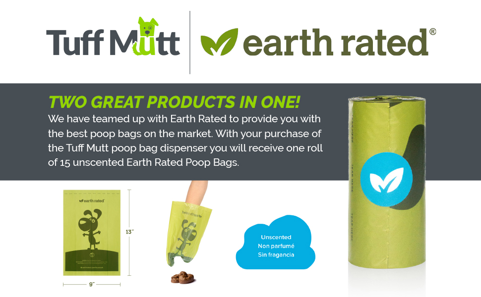 earth rated poop bag dispenser unscented waste bags