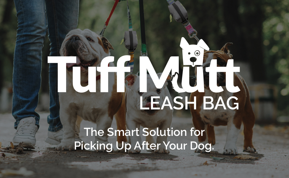 tuff mutt poop bag dispenser leash attachment for dogs waste bags