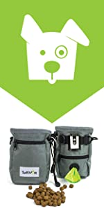 dog training treat bag and pouch with belt and metal clip puppy obedience train