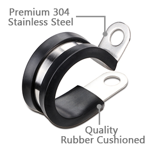 5Pcs Round Galvanized Iron Rubber Cushioned Hose Clamp for Tube PPR//PVC//Metal Clamp//Tube Holder//Pipe Or Wire Cord Installation Size : 138 142