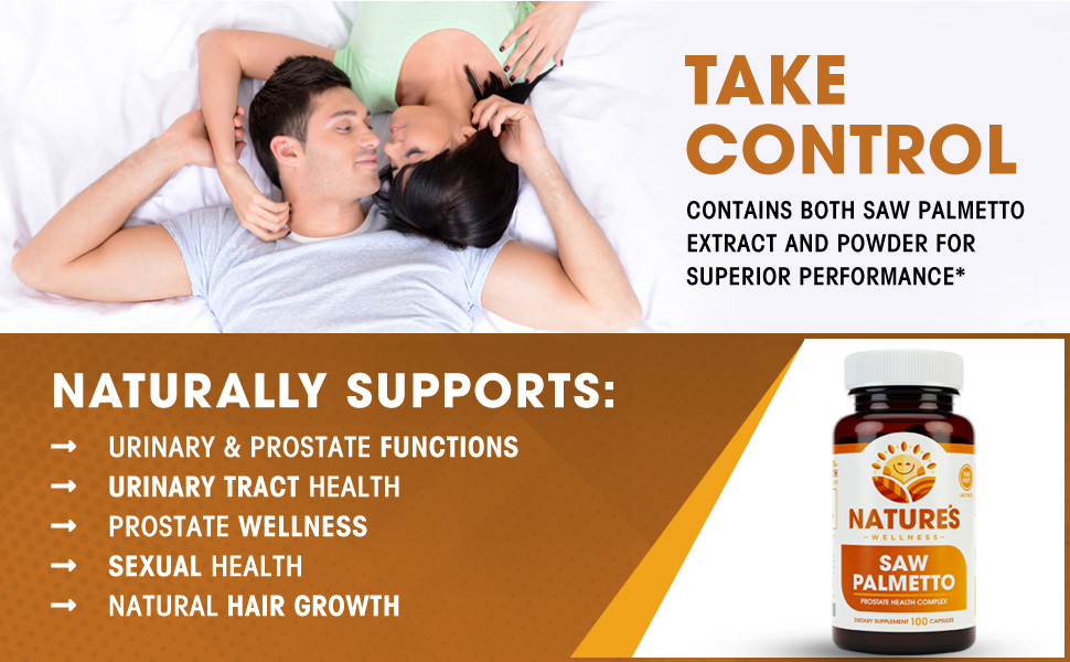 Saw Palmetto Extract Prostate Strength Reduce Urination Block DHT Hair Loss natural hair growth