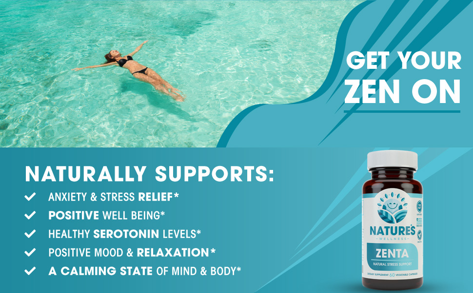 Anxiety Stress Relief positive mood healthy serotonin levels relaxation calming state well being