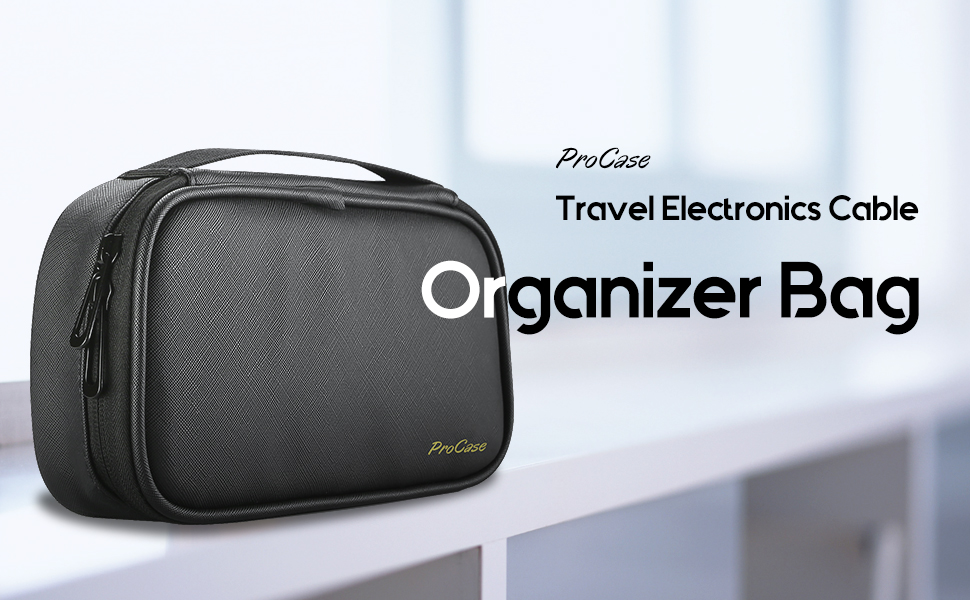 travel electronics cable organizer bag