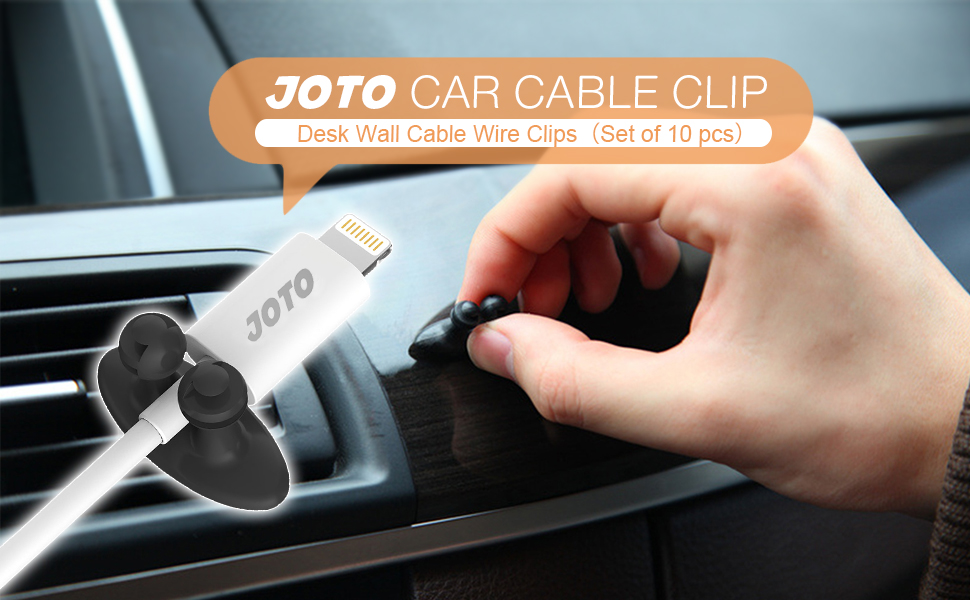 Amazon.com: Car Cable Clip, JOTO Car Charger Mounts Cable Tie Holder ...