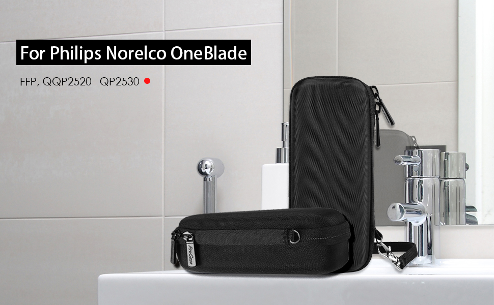 a874f7a3c0f5 This case is specially made for storing and protecting Philips Norelco  OneBlade hybrid electric shaver and accessories that come with the device.