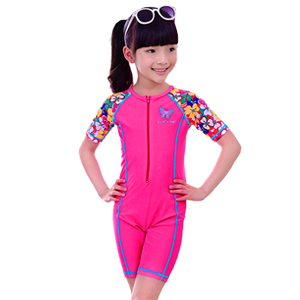 Hotpink Flower Swimsuit