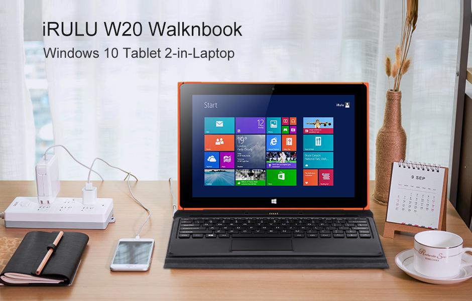Exceptionnel Amazon.com: iRULU Walknbook 2 Tablet/Laptop 2-in-1(W20) Windows 10  EL74